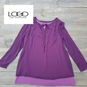 LOGO Lori Goldstein QVC layered tunic